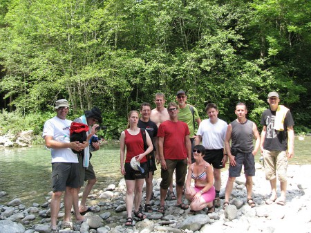 Gruppenbild Vereinsfahrt Slowenien 2012