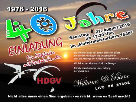 40 Jahre HDGV